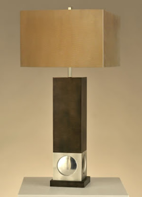 Nova 10639 1 Light Allure Table Lamp Rootbeer/Silver