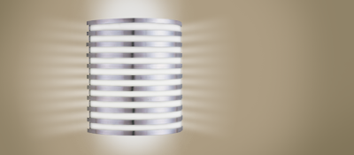 American Fluorescent BBS213SAEC Bilbao Wall Sconce 2 Light 13 Watt