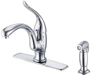 Danze D405521 Antioch Single Handle Kitchen Faucet With Side Spray Prior Model# D403021