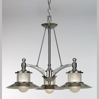 Quoizel NA5103BN New England Chandelier 3 Light Pendant