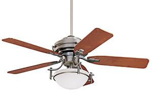 Emerson Fans CF100AP Peristyle Ceiling Fan Antique Pewter With Natural Cherry / Mahogany Blades