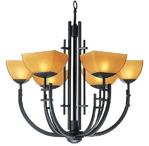 Access 26126 Ambrato 6 Light Chandelier Antique Bronze