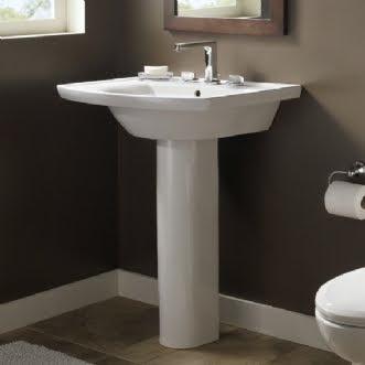 American Standard 0404.400 Tropic Grande Pedestal Bathroom Sink