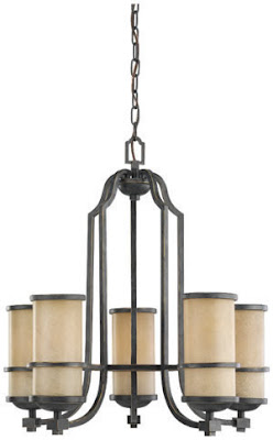 Sea Gull 31521-845 5 Light Roslyn Chandelier Flemish Bronze