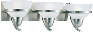 Sea Gull 44117-962 3 Light Eternity Wall / Bath Fixture Brushed Nickel