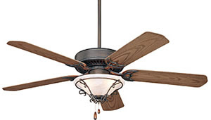 Emerson Fans CF652WB 52 Inch Summer Night Ceiling Fan Weathered Bronze With All Weather Oak Blades