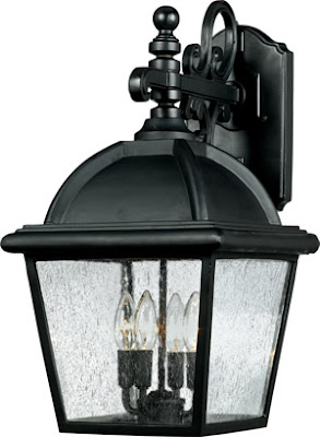 Quoizel HP8412K 4 Light Hampton Outdoor Fixture Mystic Black