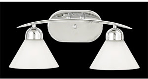 Quoizel DI8502C Demitri 2 Light Bath & Vanity Fixture Polished Chrome