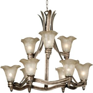 Kenroy 91149GSS Laurel 9 Light Chandelier