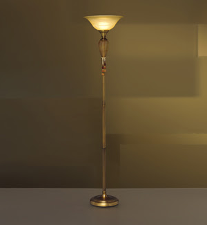 Kichler 76118 World View Torchiere Lamp Antique Brass