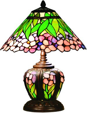 Z-Lite Z14-12 Accent Tiffany Lamp 3 Light Table Lamp Dark Bronze
