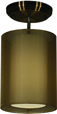 Z-Lite 144-6G-SF Nikko 1 Light Semi Flush Ceiling Fixture Antique Brass/Golden