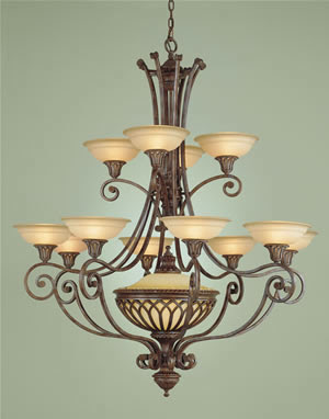 Murray Feiss F1918/12+1BRB Stirling Castle 12 Light Two Tier Chandelier British Bronze