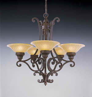 Murray Feiss F2030/5PAL Casbah 5 Light Chandelier Palladio