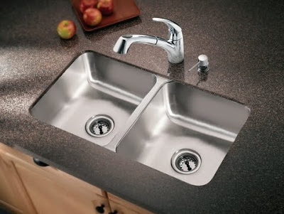 Moen 22257 Camelot Stainless Steel 20 Gauge Double Bowl Kitchen Sink