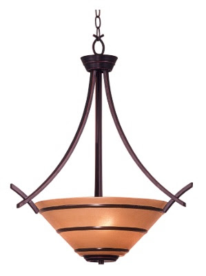Kenroy Home 90084ORB Wright 3 Light Pendant