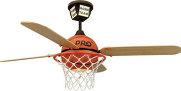 Craftmade PS52BB Youth 1 Light Pro Star Basketball Ceiling Fan