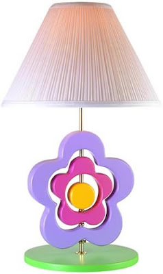 Lite Source 3SFL50106 1 Light Hippie Spinning Flower Lamp, Pastel