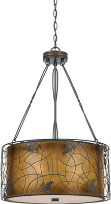 Quoizel MC844CRC Mica 3 Light Pendant Fixture Renaissance Copper