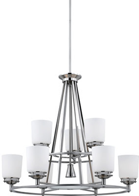 Quoizel AV5009BN Avery 10 Light Chandelier Brushed Nickel