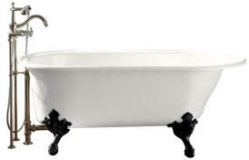 Kohler K-710-W Iron Works Historic Bath With White Exterior