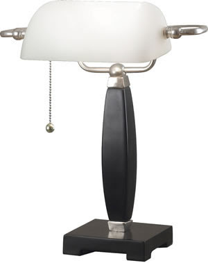 Kenroy Home 20680BL 1 Light Blaine Bankers Lamp