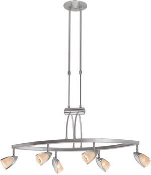 Access 52036-BS-OPL Comet 6 Light Adjustable Pendant Brushed Steel