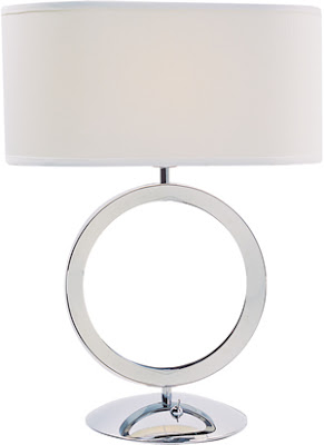 Z-Lite 1203TL Delta 1 Light Table Lamp Polished Stainless Steel