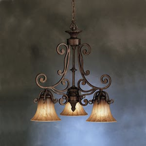 Kichler 1853CZ Cottage Grove 3 Light Chandelette Carre Bronze