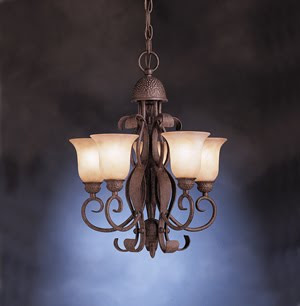 Kichler 2104OI High Country 5 Light Chandelette Incadescent Old Iron