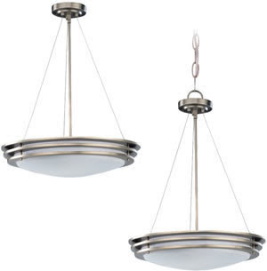 Sea Gull 69152BLE-962 2 Light Nexus Convertible Fixture Brushed Nickel