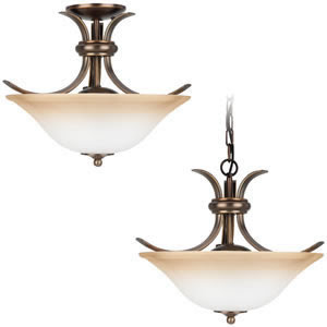 Sea Gull 75360-829 2 Light Rialto Convertible Fixture Russet Bronze