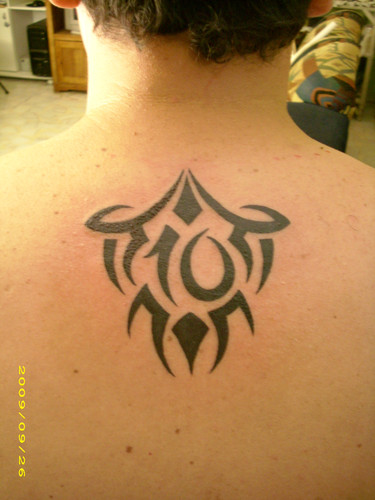 Men tribal tattoos, Tribal tattoos for men, Upper back tribal tattoos