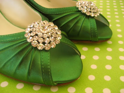 Elegant Green Wedding Shoes