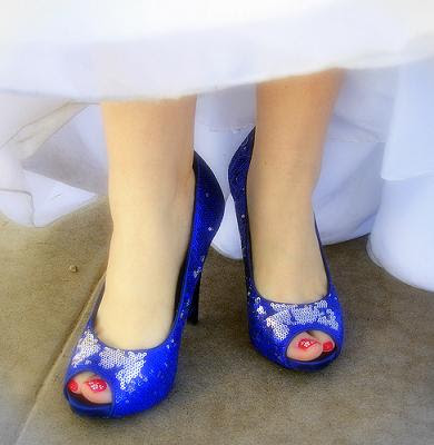 Trends Bridal shoes with blue colour2