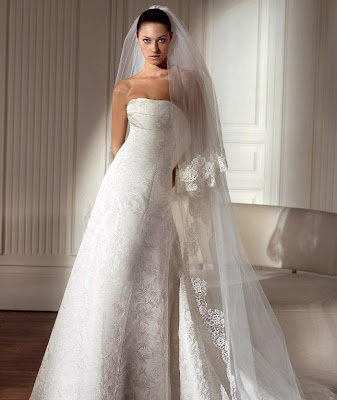 Winter wedding dress 2010