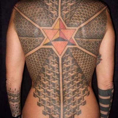 Full back maori tattoos