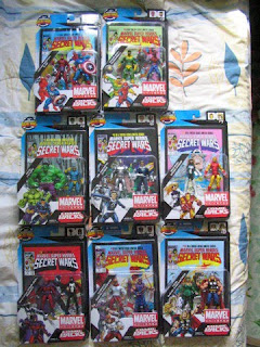 Marvel Secret Wars comic packs HULK CYCLOPS X-men KLAW CAPTAIN AMERICA MAGNETO SPIDER-MAN black symbiote costume SPIDER-WOMAN IRON MAN ENCHANTRESS THOR CANNONBALL Wrecking Crew SPIDER-MAN ULTRON MR FANTASTIC Fantastic Four HAWKEYE PILEDRIVER Avengers