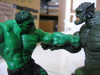 Marvel Hulk legends Abomination face off
