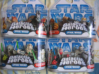 Star Wars Galactic Heroes Clone Wars Jar Jar Binks Destroyer Droid Kit Fisco General Greivous Plo Koon Captain Rex Shaak Ti Magna Guard