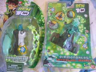 Ben 10 Ten Tennyson Diamondhead Crystalline Cruiser DNA Heroes