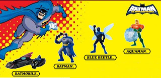 DC Batman Brave and Bold Universe Infinite Crisis animated series cartoon comics batmobile hot wheels batpod batrang Blue Beetle Aquaman Atlantis McDonalds