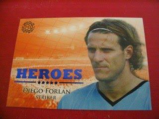 Futera Heroes Cards Autograph Memorable Memorabilia Diego Forlan Uruguay Manchester United Rio Ferdinand Javier Mascherano Argentina England