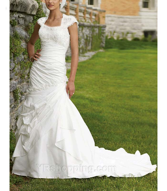 Pretty modest wedding dresses on pinterest modest for Mormon temple wedding dresses