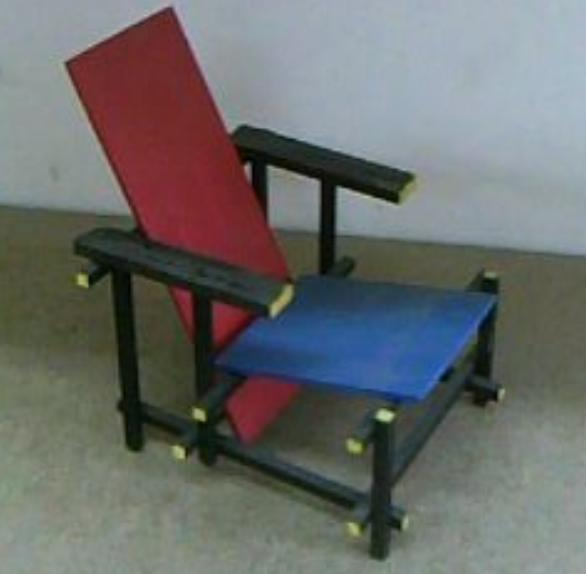 Bernab bret maqueta silla red and blue for Sillas para maqueta