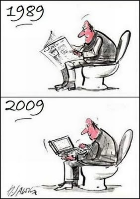toon-man-reading-newspaper-using-laptop