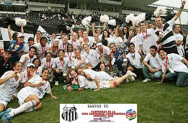 SANTOS FC FEMENINO-CAMPEONAS DE LA 1 COPA SANTANDER LIBERTADORES FEMENINA