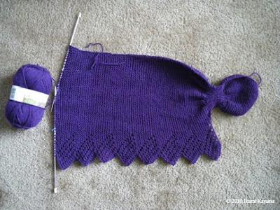 Ikumi knits grandma's shawl