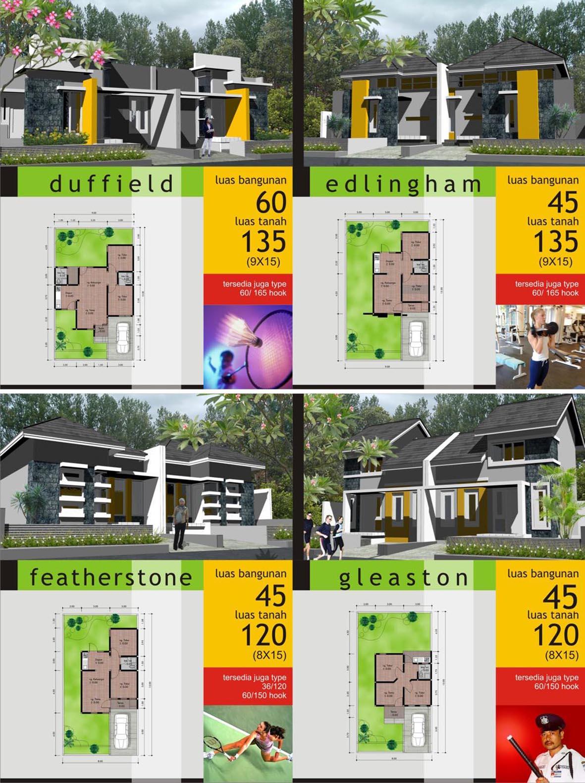 Model dan Type Rumah 1 Lantai