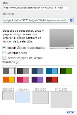 Insertar vídeos de Youtube en blog